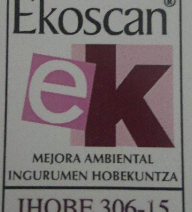 Artelatzek Ekoscan Plus ingurumen ziurtagiria berretsi du