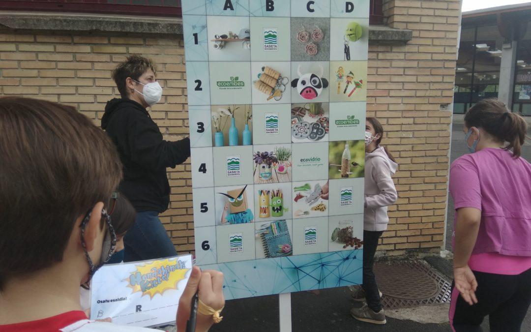 Ya está en marcha la campaña «¡Basta de residuos!»  en centros de la Mancomunidad de Sasieta
